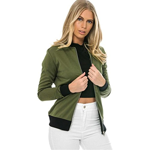 Xinantime Donna Cappotto Maniche Lunghe Casual Blazer Suit Giacca Outwear (L, verde)