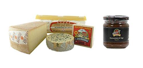 French-Cheese-Sampler-Connaisseur-2-lbs-Fig-Jam-Mathambre-220gr