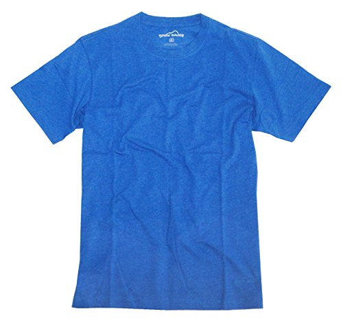 Eddie Bauer Mens Classic Fit Short-Sleeve T-Shirt, Blue Heather, Xx-Large