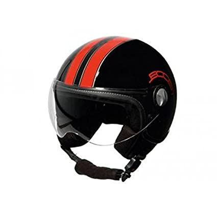 BS02426 - Casque Boost B730 Retro 2 Noir/Rouge Xl