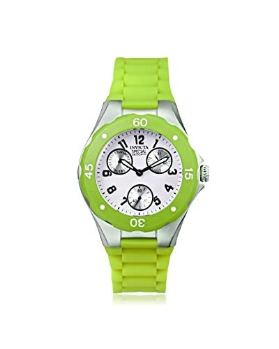 Invicta Women's 18793 Angel Lime Green/White Silicone Watch As You See