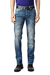 Allen Solly Mens Drop Crotch Jeans (8907308799013_ALDN515J05813_36W x 34L_Dark Blue Solid)
