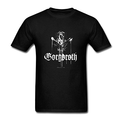 Men's Gorgoroth Art Short Sleeve Cotton T Shirt Royal Blue