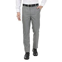 Zido Men'S Slim Fit Grey Formal Trouser_ZI15060_Grey