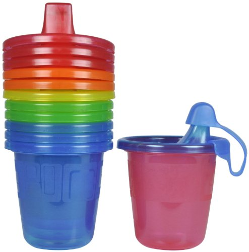 The First Years Take & Toss Spill-Proof Sippy Cups - Multicolor - 7 oz - 6 ct - 1