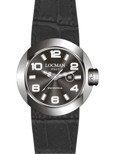 Locman - 042100BKNWH0PSK-KS-W - Montre Femme - Quartz Analogique - Bracelet cuir Noir