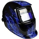 Instapark ADF Series GX-550S Solar Powered Auto Darkening Welding Helmet with Adjustable Shade Range #9 - #13 (Bluish Devil)