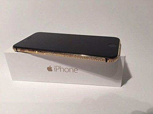 Bestsupply2u discount duty free Apple iPhone 6 Plus - 128GB - Custom 24K Mirror Gold Black Stripe Full Diamond Crystal Edition - International/factory Unlocked New