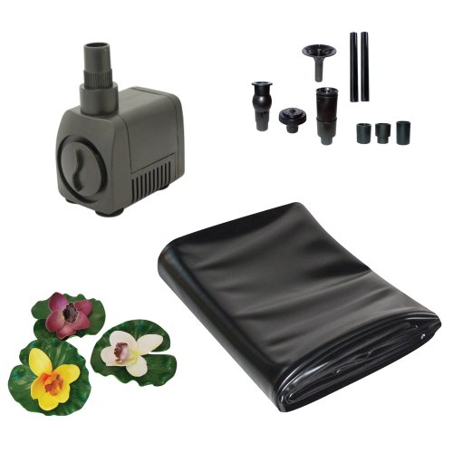 TotalPond A20010 7-Foot by 10-Foot Pond Starter Kit