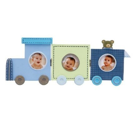 C.R. Gibson Stepping Stone Three Frame Train Picture Display - 1