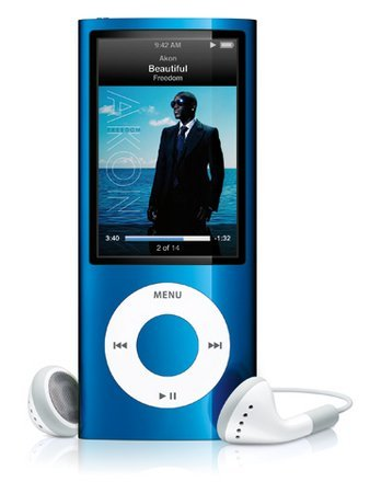 Mp4 Mp3 Player 2GB 1.8'' LCD with Fm Radio BLUE