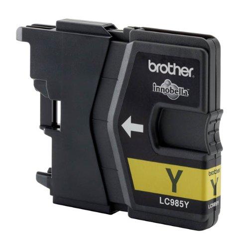 Brother LC985YBP Cartouche jet d'encre, couleur jaune, capacité 260 pages, pour imprimantes dcp-...