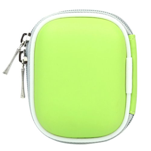 Biru Gear Green Bluetooth Pouch Carrying Case For Plantronic / Jabra / Samsung / Motorola / Blackberry / Blueant Wireless Handsfree Headset