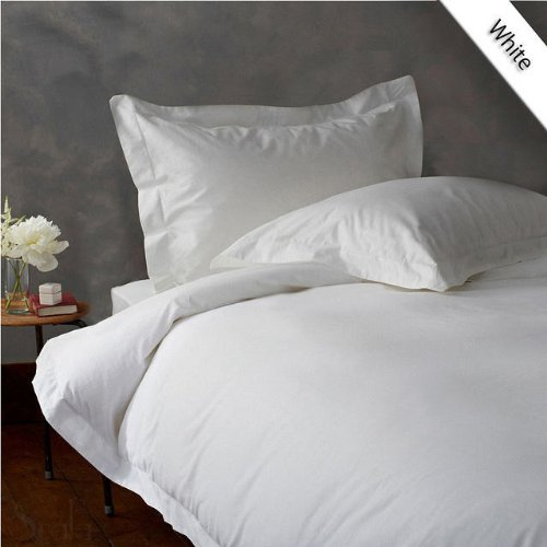 Find Bargain BedDecor 630 Thread Count Egyptian Cotton Duvet Cover, Queen, White