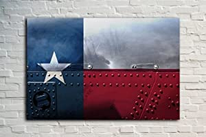Amazon Com Texas State Flag 18 Quot X12 Quot Distressed Metal