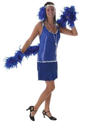 Plus Sequin & Fringe Blue Flapper (2X)