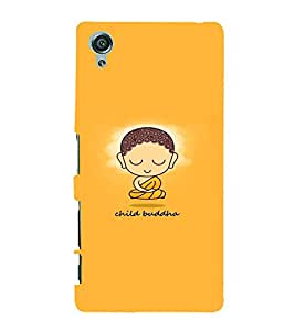 PrintVisa Quotes & Messages Buddha Religious 3D Hard Polycarbonate Designer Back Case Cover for Sony Xperia X