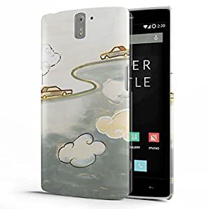 Koveru Designer Printed Protective Snap-On Durable Plastic Back Shell Case Cover for OnePlus One - Cute Curls