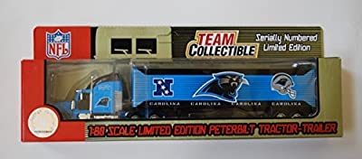 2004 NFL Fleer Collectibles 1:80 Scale Die Cast Tractor Trailer - CAROLINA PANTHERS