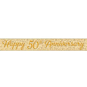 50th Anniversary Prismatic Foil Banner, 9-Feet from Unique Industries, Inc. - kitchen