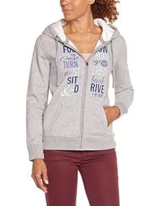 Roxy Maya B MSP Sweatshirt zippé femme Heather Grey FR : M (Taille Fabricant : M)