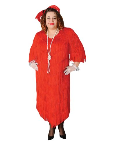 Deluxe Plus Size Roaring 20's Flapper Theatrical Quality Costume