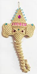 DollsofIndia Hanging Face of Elephant - 17 X 9 inches
