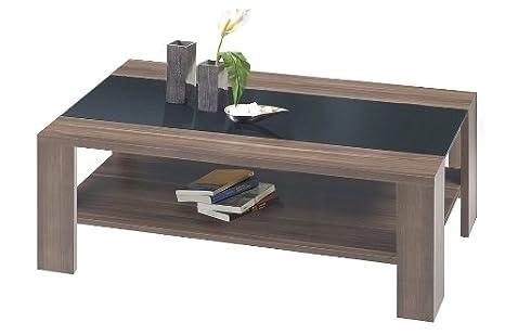 couchtisch adventure 05 wohnzimmertisch nussbaum mit schwarzer. Black Bedroom Furniture Sets. Home Design Ideas