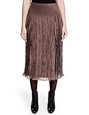 Per Una Shimmer Floral Long Skirt [T62-7636I-S]