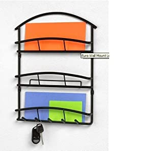 Wall Mount Letter Mail Organizer Key Rack Decor New Office Products