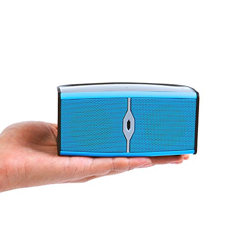 Alpatronix Ax400 Ultra Portable Wireless Mini Bluetooth Speaker & Rechargeable Stereo System With Built-In Mic, Subwoofer & Speakerphone - Blue/Black