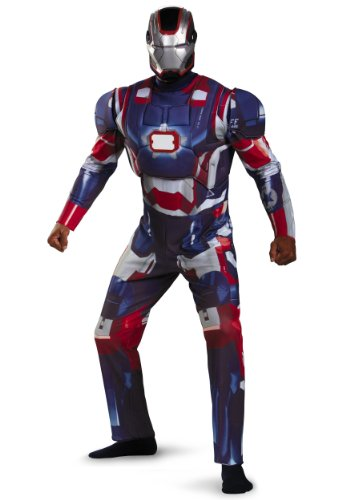 Deluxe Iron Patriot Light Up Muscle Chest Adult Costume - Adult Costumes