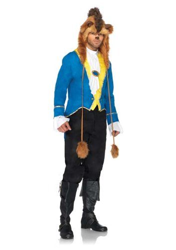 Leg Avenue Costumes Disney 3Pc.Beast Jacket Neck Scarfand Furry Character Hood