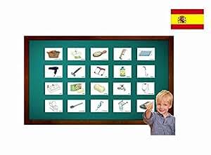 Amazon.com: Tarjetas de vocabulario - El baño - Spanish Bathroom and