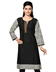 Plain Cotton Long Cotton Kurtis