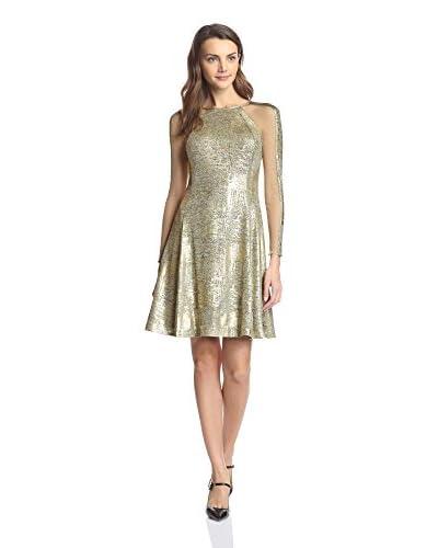 Julia Jordan Women's Metallic Fit-and-Flare Dress