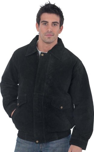 Buy Mens Black Suede Jacket