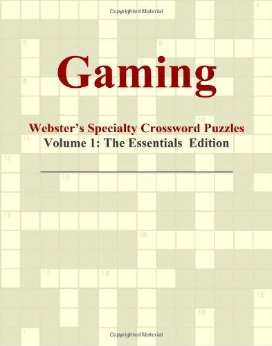 Gaming - Webster'S Specialty Crossword Puzzles, Volume 1: The Essentials Edition