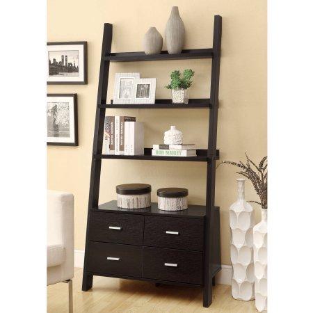 Coaster 4-Drawer Ladder Style Bookcase Mission Style 4 Shelf Bookcase
