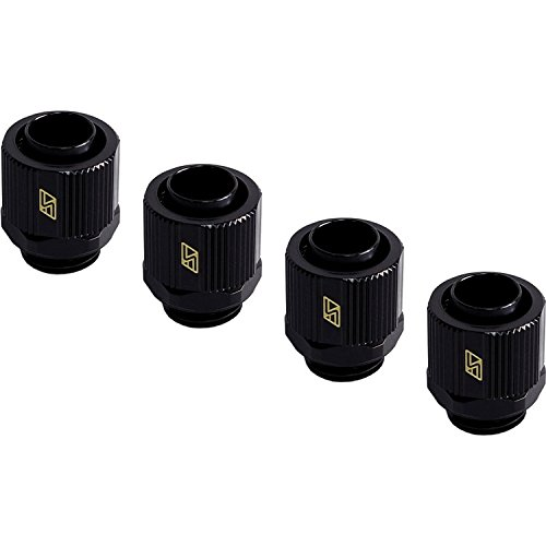 Фото Swiftech G1/4 to 3/8 ID, 1/2 OD Lok-Seal Compression Fitting, Black, 4-pack bykski g1 4 double external thread fitting dual male connector 7 colors
