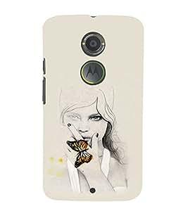 EPICCASE Butterfly Angel Mobile Back Case Cover For Moto X 2nd Gen (Designer Case)
