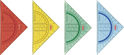 Baier & Schneider Geometrie-, Zeichendreieck (Büro, Schule) Geodreieck Schule, Kunststoff, 16 cm