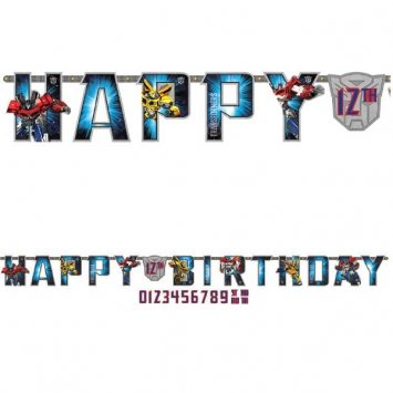 "Amscan Mighty Transformers Birthday Jumbo Add-an-Age Letter Party Banner (1 Piece), Blue, 10 1/2' x 10"" - 1"