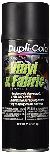 Dupli-Color HVP106 Flat Black High Performance Vinyl and Fabric Spray - 11 oz. (Interior Spray Paint compare prices)