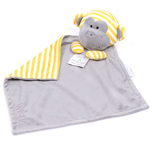 Bella Tunno Poetic Plush Lovey Blanket, Wish Monkey - 1