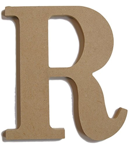 "Pressed Wood Initials Wall Decor - 8"" Classic R - 1"