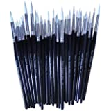 Major Brush Pack Of 50 Artist Sable Paint Brushes Various Sizes School Pack