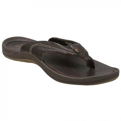 Ocean Minded by Crocs Men's Cape Range Thong Sandal,Chocolate,8 M US
