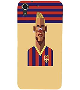 PrintDhaba Sports D-5948 Back Case Cover for HTC DESIRE 728 (Multi-Coloured)