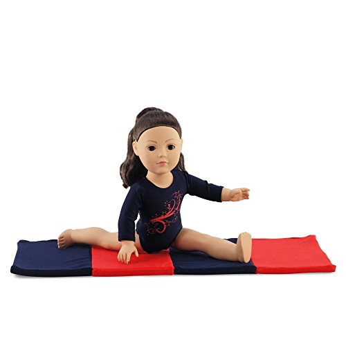 18 Inch Doll Clothes/Clothing Leotard with Gymnastics Tumbling Mat l Fits 18